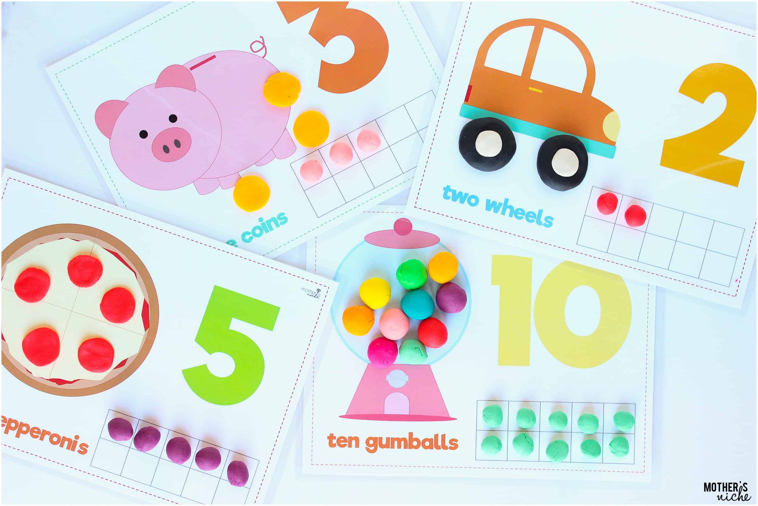 It is an image of Bright Play Dough Mats