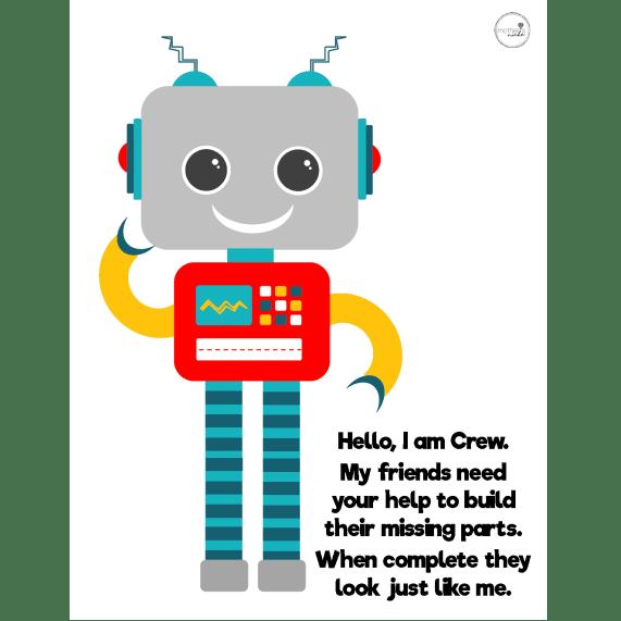 Robot play dough mat - Crew