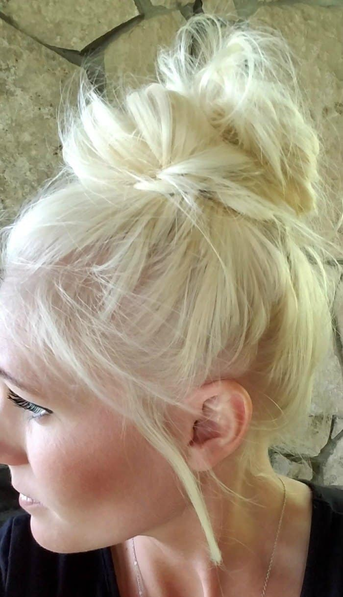 Tips for how to do a messy bun