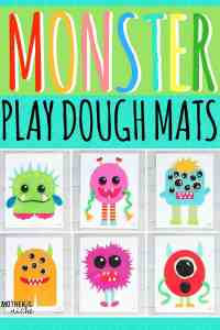 Monster Play Dough Activity Mats