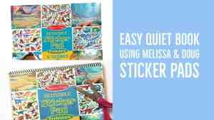 Super Easy Sticker Pad Quiet Book