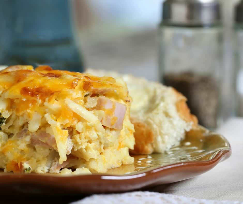 One of our favorite breakfast (and dinner) recipes! Every time I make this breakfast casserole someone asks for the recipe. There are so many substitutions you can make with this recipe too!