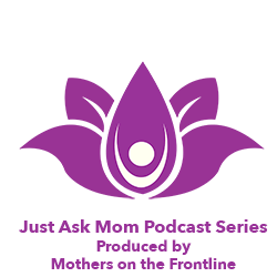Logo: purple lotus flower with person in center raising arms.