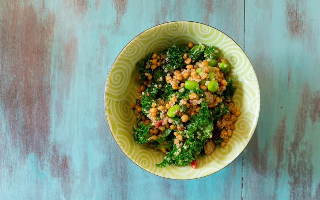 Barley Kale Salad (Vegan, Vegetarian)