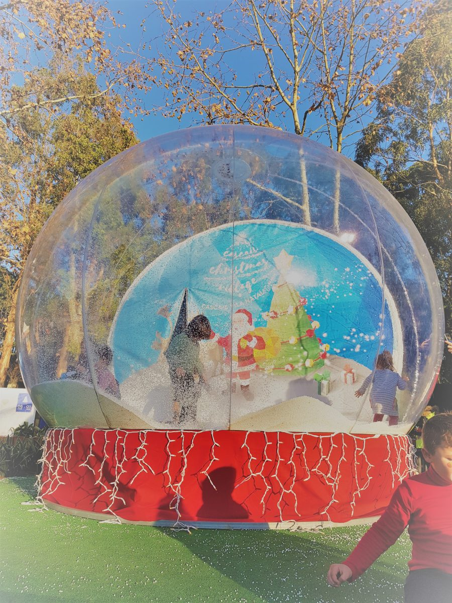 Snow globe at this budget boutique Christmas experience