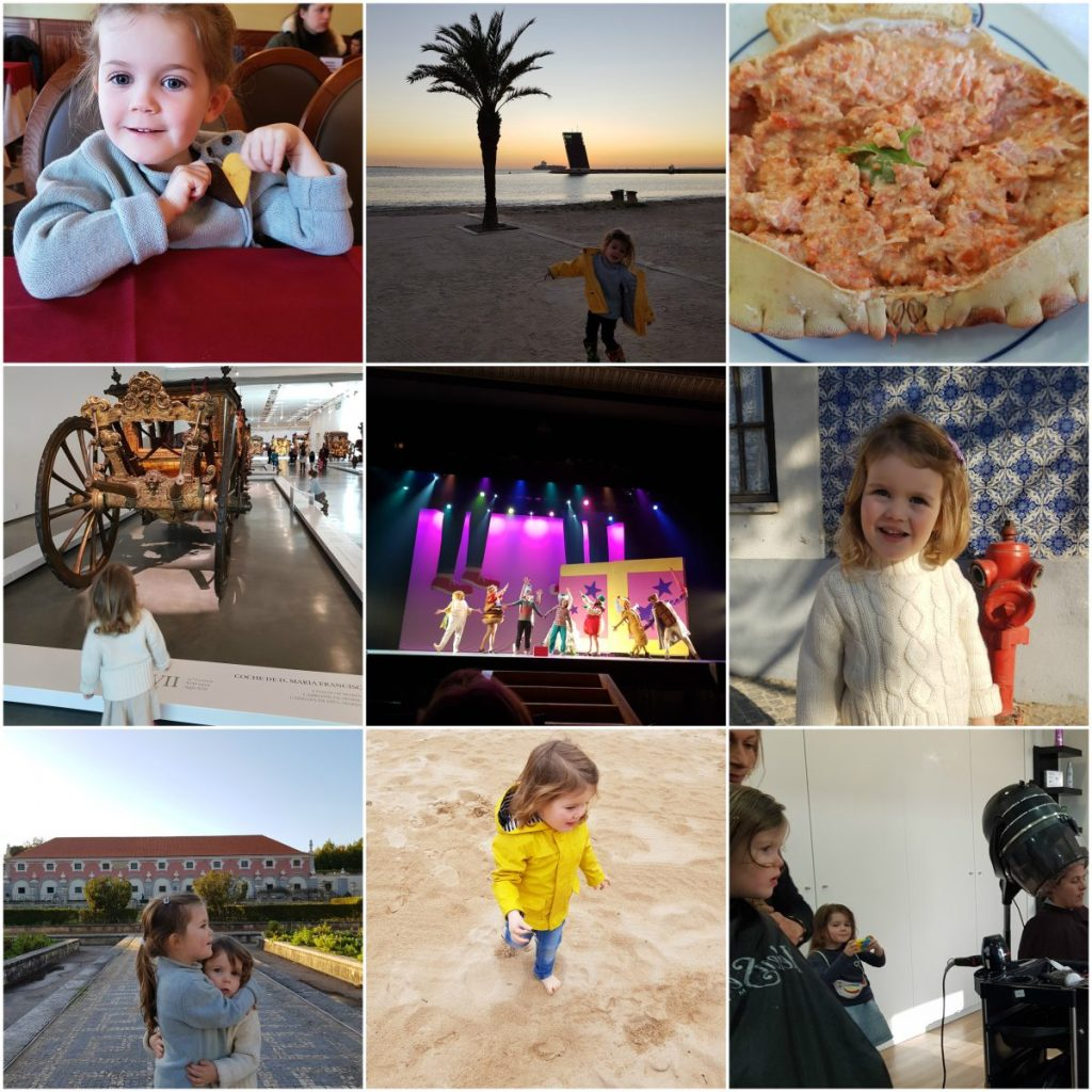 impact on language acquisition - Collage of Christmas trip memories