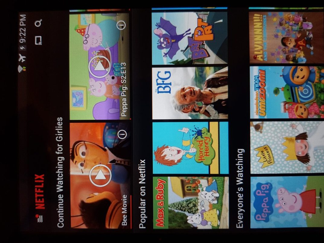 Learning Languages with Netflix - Screenshot of Netflix shows and search box