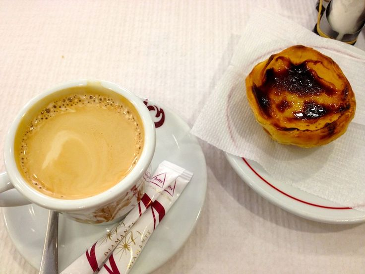 Coffee and Portuguese Custard Tart