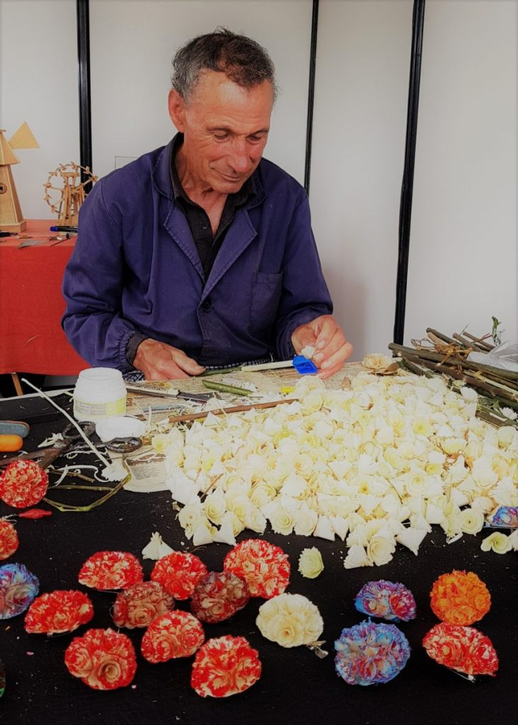 A craftsman at a crafts festival in Aveiro