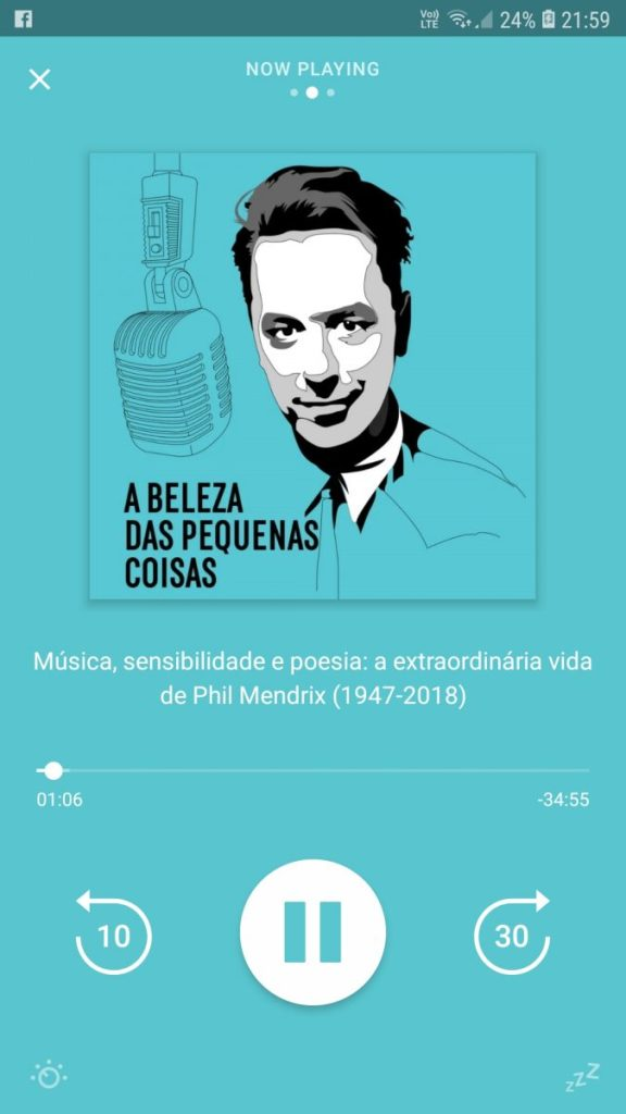 A podcast in Portuguese language