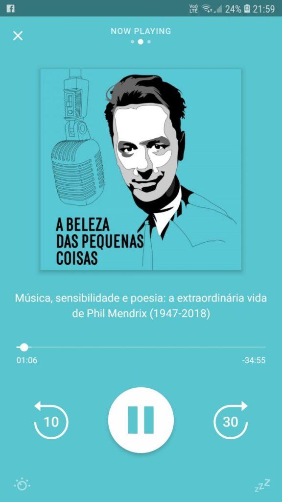 A podcast in Portuguese language