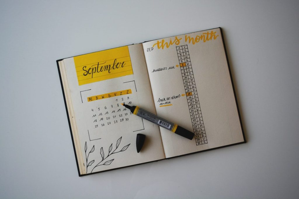 Bullet Journal. Photo from Estee Janssens for unsplash