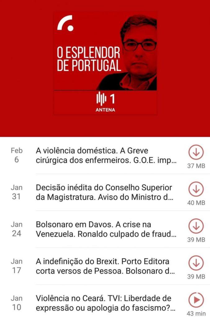 screenshot of O Esplendor de Portugal