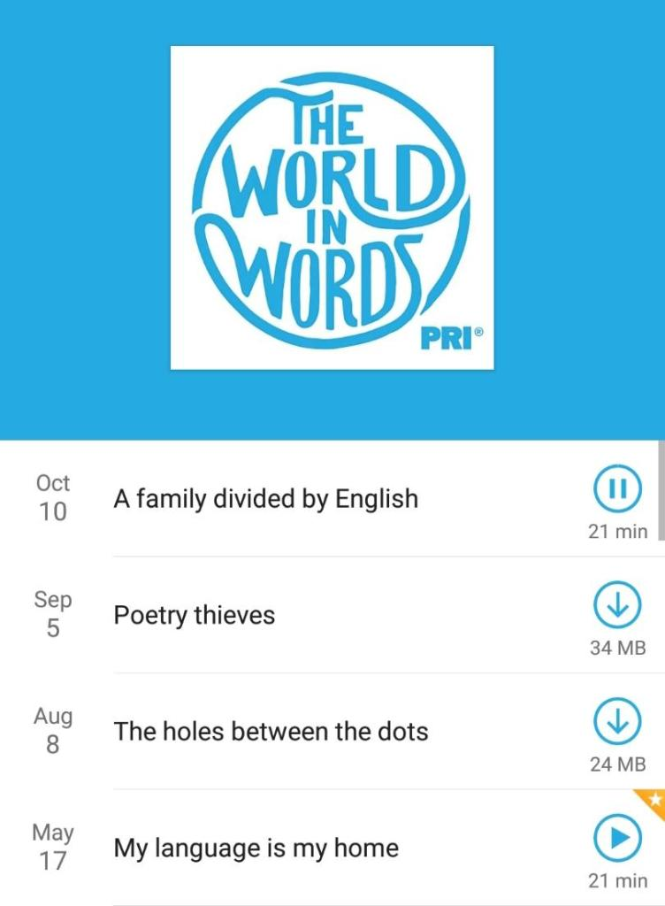 the world in words podcast