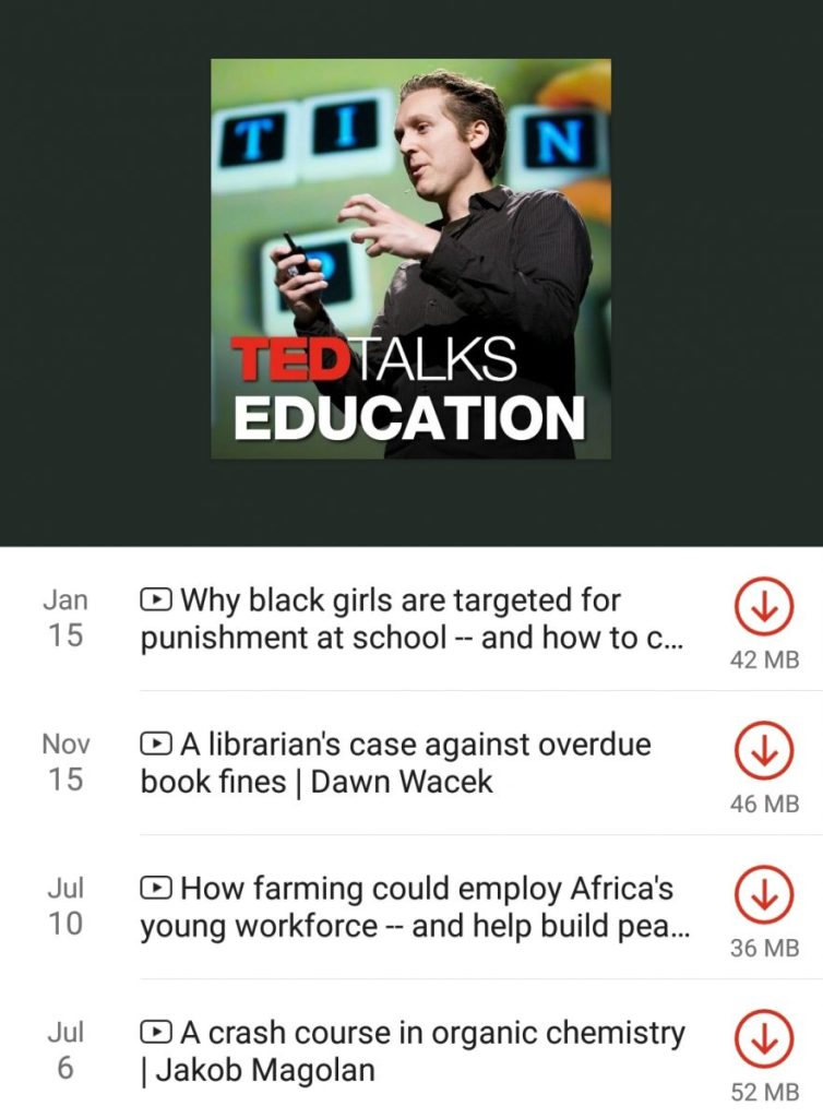 Ted Talks Education parenting podcast  list