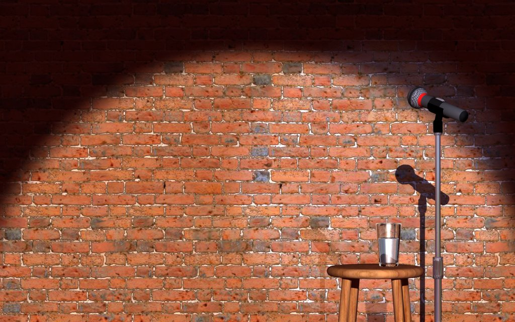 empty stand-up comedy stage