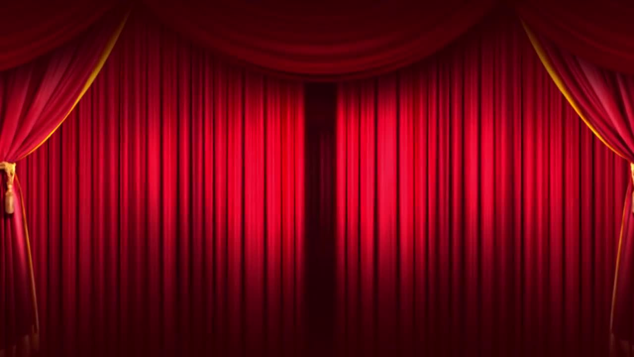 curtain stage background stock motion