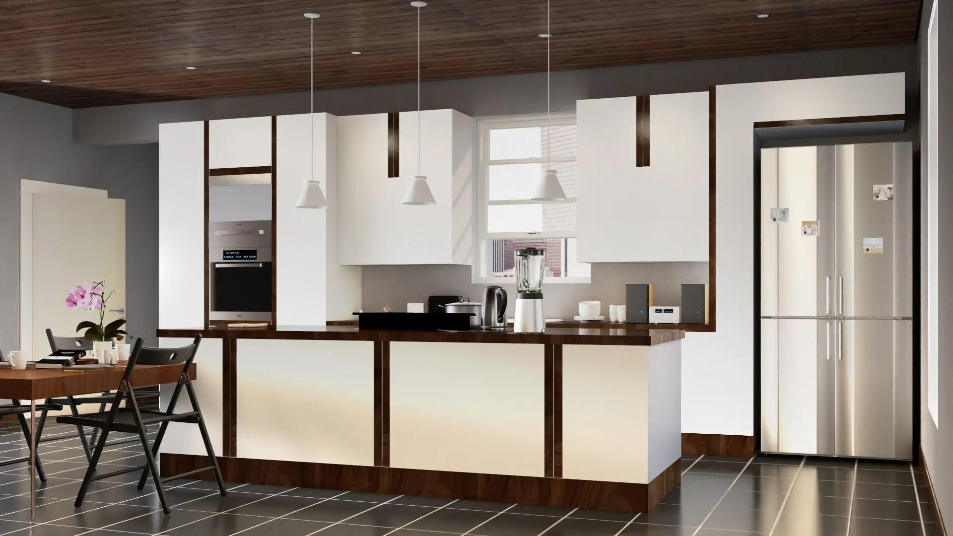 3d CGI Visualisierung Küche mit Details in Cinema 4D
