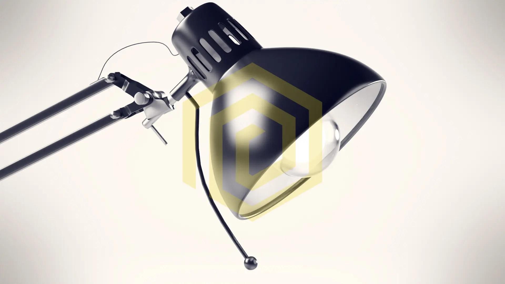 Nahaufnahme CGI produktvisualisierung Lampe mit 85mm Brennweite