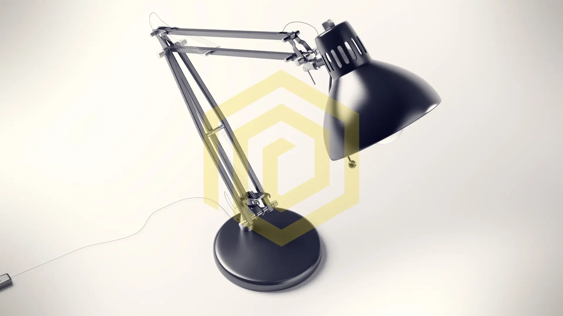 von 3D-Modell Lampe in Blender Cycles