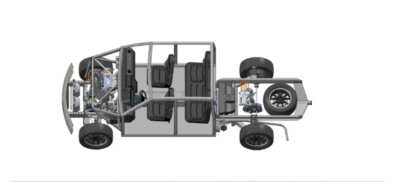Workhorse W-15 electric pickup truck safety-structure