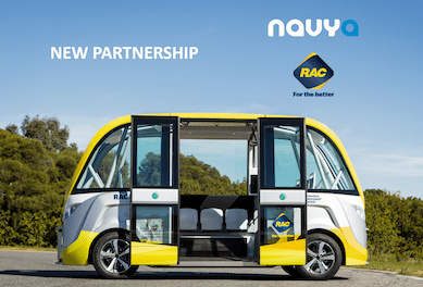 RAC Royal Automobile Club Australia Navya Arma Partnership Driverless Vehicles to Australia New Zealand Southeast Asia ASEAN