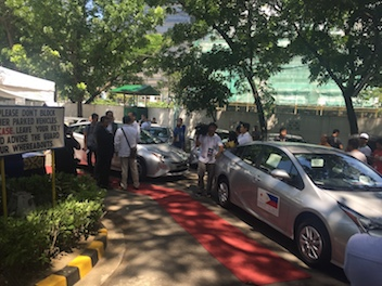 Philippine Government Agencies Leads the Charge in Green Vehicles Toyota Prius Hybrid by Japan NPGA fund low emission