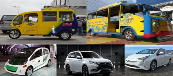 excise Tax exemption for Sustainable urban Mobility in the Philippines electric vehicle ev hybrid mitsubishi miev outlander toyota prius jeepney KEA etrike