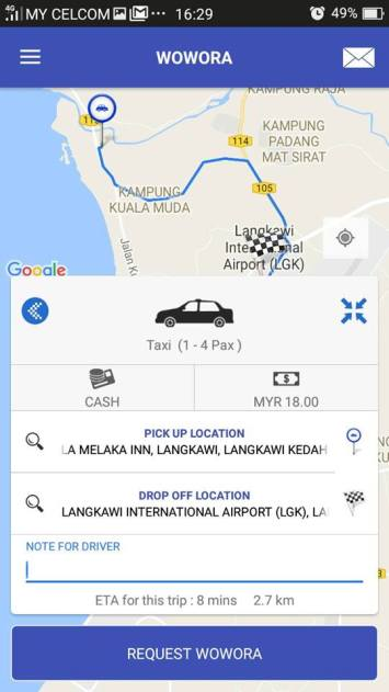 Wowora App Takes On Ride-Hailing Giants in Malaysia's Second-tier Cities hail a taxi Langkawi Sabah Sarawak Kota Kinabalu Kuching