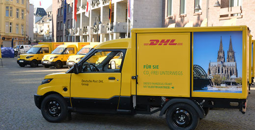 IDTechEx Research Releases New Report on Last Mile Delivery Electric Vehicles DHL ElectricScooter Electric Van logistics robot drone delivery