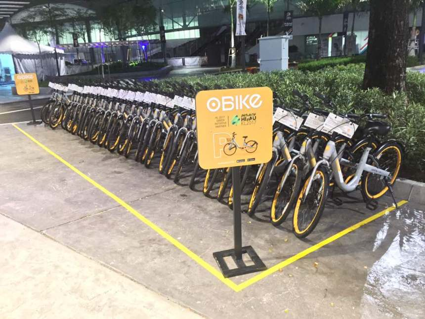 oBike is the Official Sustainable Urban Mobility Partner for KL SEA Games 2017 oBike locations bike sharing bike rental