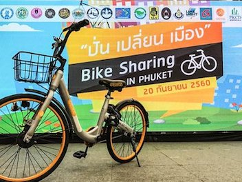 Singapore-based Startup oBike Launches Bike-sharing in Phuket Thailand sustainable urban mobility