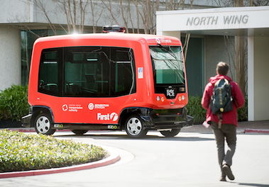 EasyMile Receives NHTSA Approval to Test Shared Autonomous Vehicles on Public Roads autonomous electric shuttle self driving driverless urban technology