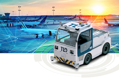 TLD Partners EasyMile to Develop Autonomous Baggage Tractor for airport autonomous self driving driverless vehicle airport ground vehicle