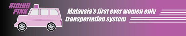 Riding Pink Malaysia first ride hailing sharing for women only urban mobility