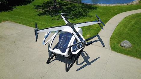 Workhorse to Showcase World's First Personal Hybrid Electric Octocopter urban air mobility vehicle CES 2018