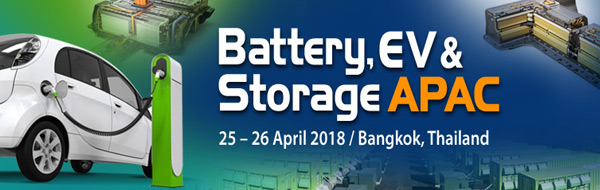 Battery EV Storage APAC Bangkok 2018 Electric Vehicle EV mobility