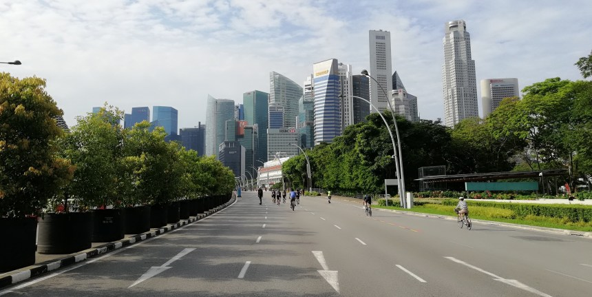 Singapore's CBD Car-Free Sunday sustainable urban mobility NMT cycling