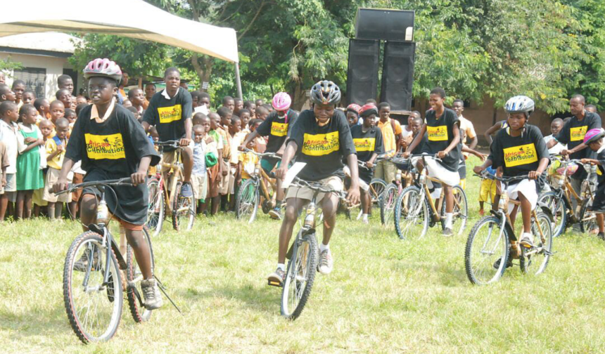 African Bicycle Contribution Foundation To Distribute an Additional 50 Free Bamboo Bikes race eco bicycles NMT non motorised sustainable mobility