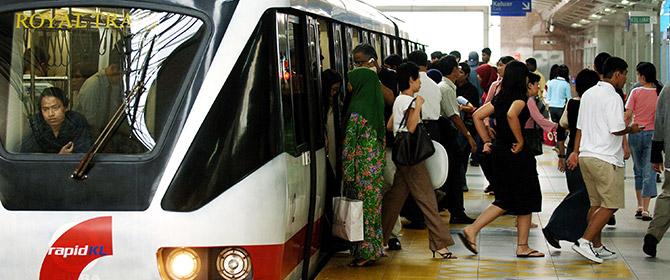 Bombardier CityFlo Mass Transit light rail driverless train MRT LRT Rapid KL Kuala Lumpur Malaysia