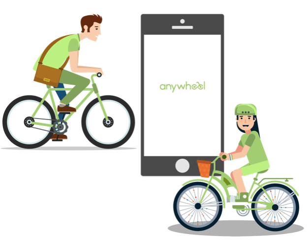 """Anywheel Malaysia bicycle and electric scooter sharing services"