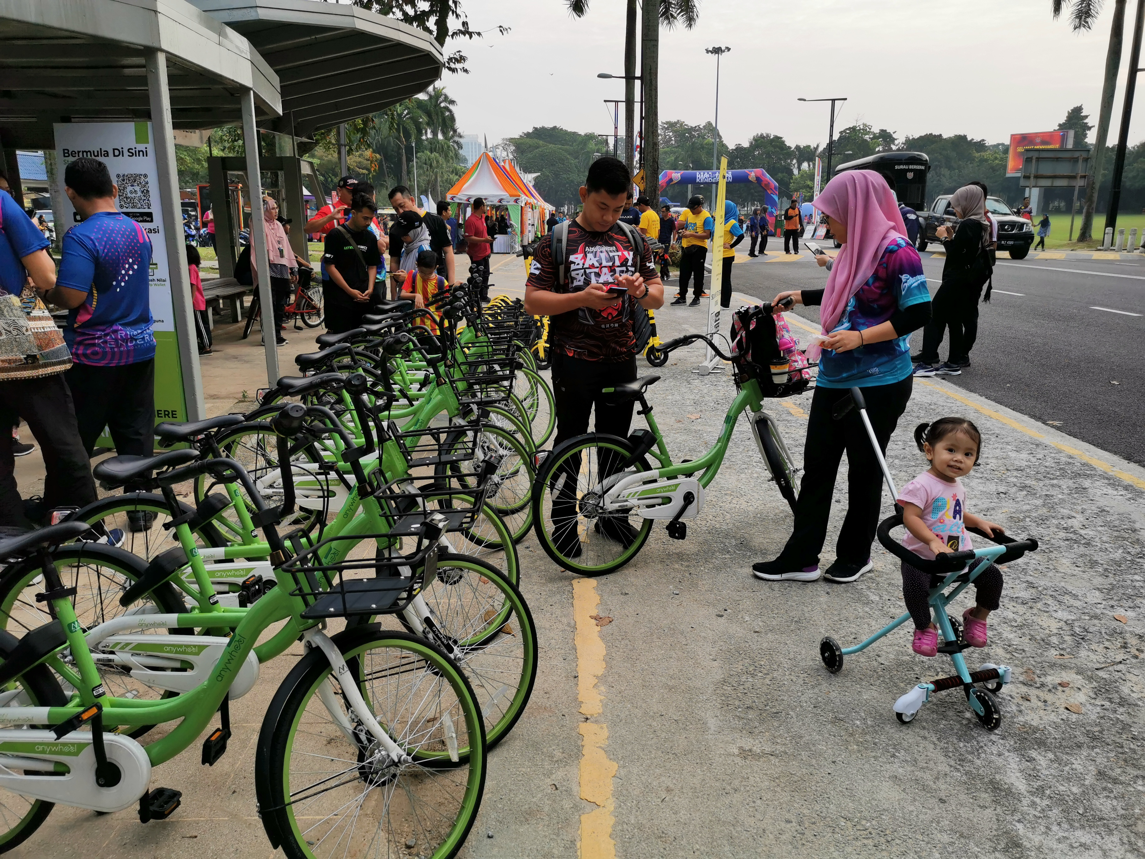 Anywheel Malaysia bicycles at SHah Alam Car Free Day