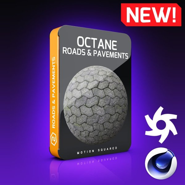 octane roads and pavements texture pack for cinema 4d