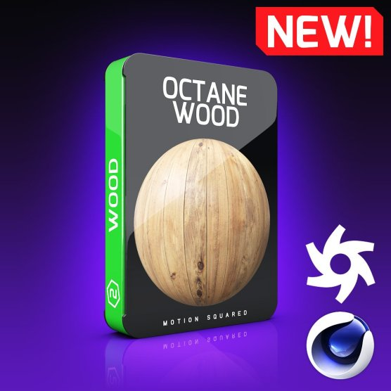 Octane Wood Texture Pack for Cinema 4D.