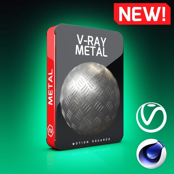 V-Ray Metal Texture Pack for Cinema 4D