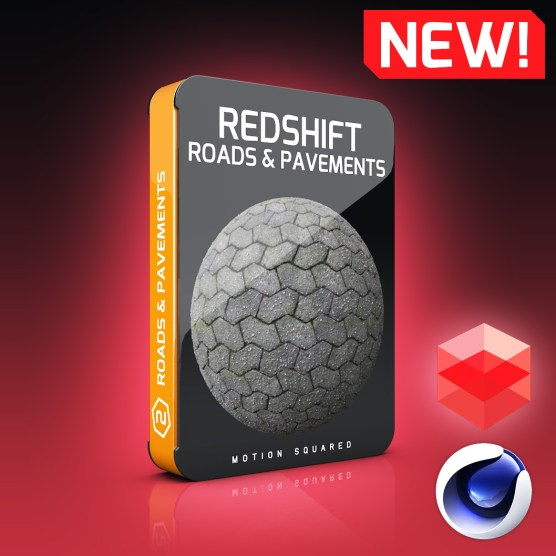 Redshift Road And Pavement Materials Pack for Cinema 4D
