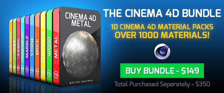 cinema 4d material packs bundle banner