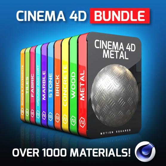 cinema 4d material packs bundle