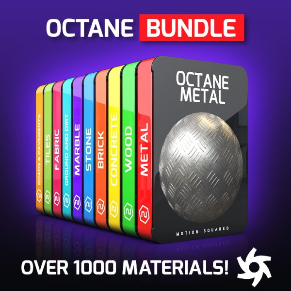 Octane Material Packs Bundle for Cinema 4D