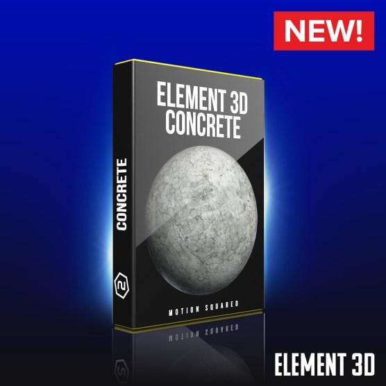 Element 3D Concrete Shaders